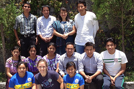 Liz Angoff (front, center) with teaching staff in Santiago Atitlan