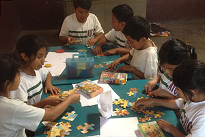 "Students participating in one of the ""Friendship Groups"""