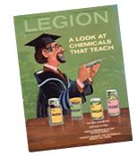 Dr. David Krech made the cover of the August 1974 issue of Legion magazine, an issue that focused on the chemistry of learning.