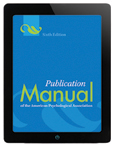 APA's Publication Manual is now offered as an e-book