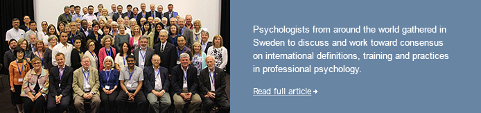 International Consensus in Professional Psychology: First Steps in Stockholm