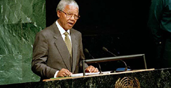 Nelson Mandela's vision and legacy are explored in U.N. policies and actions.