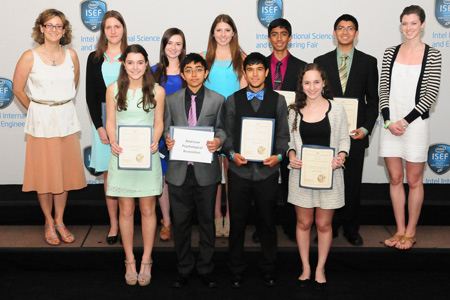 2013 Intel International Science and Engineering Fair Winners