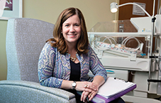 Dr. Jennifer Harned Adams specializes in treating pregnant women on hospital bed rest.