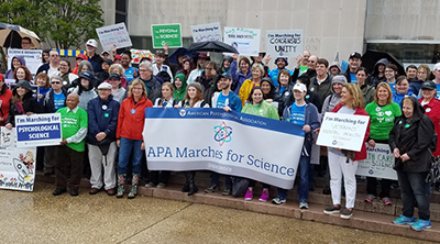 APA to march again for science