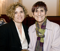 Friends of NICHD Chair Karen Studwell and Rosa DeLauro (D-CT)