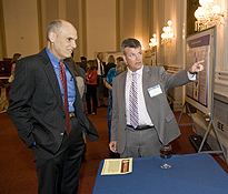 Dr. Richard Legro from the Society for Reproductive Medicine and NICHD Director Alan Guttmacher
