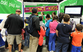More than 2500 children and adults learned about cognitive development research at an exhibit jointly sponsored by the American Psychological Association and the Museum of Science, Boston, at the recent USA Science & Engineering Festival Expo