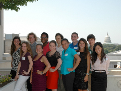 The 2012 Summer Science Fellows convened on the roof of the APA building on APA Policy Day.