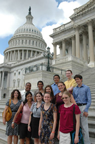 SSF participants meet for a tour of the U.S. Capitol