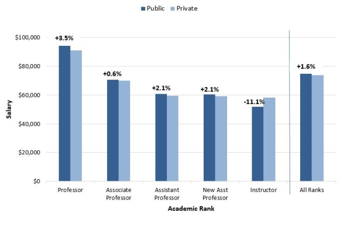 What is the difference between Rank of Professors?
