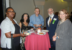 APA at the table: Gwen Keita, Melba Vasquez, Gary Vandenbos, Kurt Geisinger, and Lindsay Childress-Beatty at the opening reception.