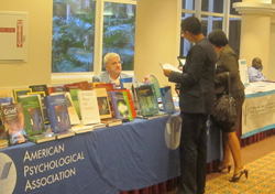 Gary Vandenbos at the APA Books table.