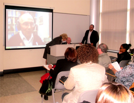 An interactive Skype presentation with Dr. Noach Milgram of Tel Aviv, Israel on the psychology of anti-Semitism