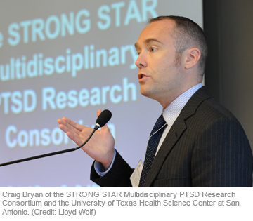 Craig Bryan of the STRONG STAR Multidisciplinary PTSD Research Consortium and the University of Texas Health Science Center at San Antonio. (Credit: Lloyd Wolf)
