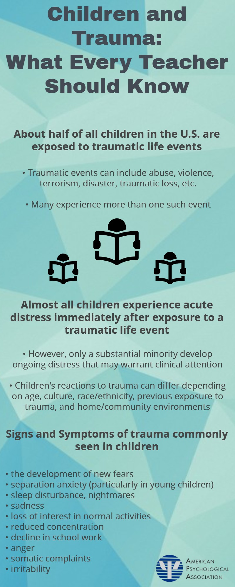 Traumatic Experiences During Early >> Children And Trauma Resources From The Children Youth And Families